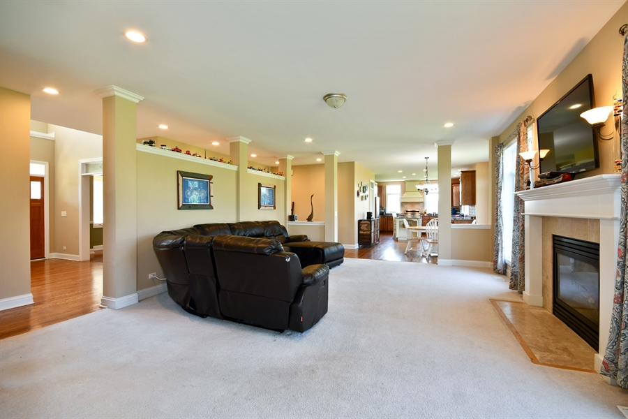 Real Estate Photography - 1N132 Blackberry Crossing Circle, Elburn, IL, 60119 - Family Room