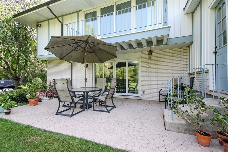 Real Estate Photography - 69 Graymoor Lane, Olympia Fields, IL, 60461 - Stamped Concrete Patio