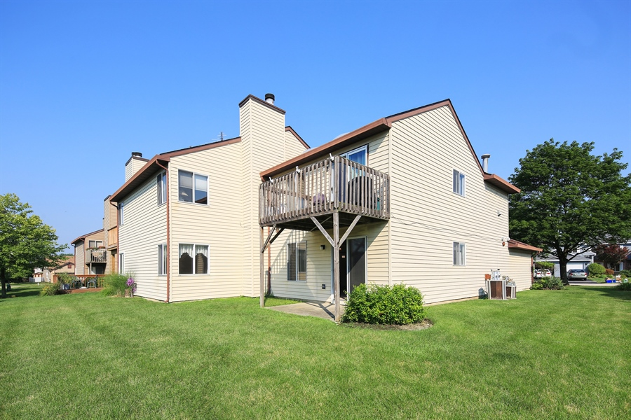 Real Estate Photography - 2489 Brunswick Circle, Unit 19B1, Woodridge, IL, 60517 - Rear View