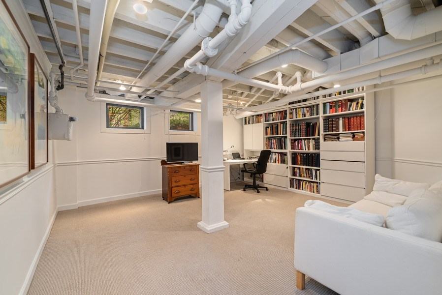 Real Estate Photography - 5344 N. Wayne Avenue, Chicago, IL, 60640 - Lower Level Office/Bedroom