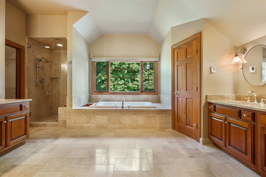 Real Estate Photography - 712 Milton Road, Inverness, IL, 60067 - Master Bathroom