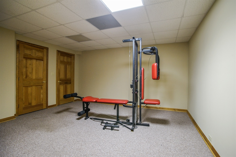 Real Estate Photography - 712 Milton Road, Inverness, IL, 60067 - 5th Bedroom/Exercise Room