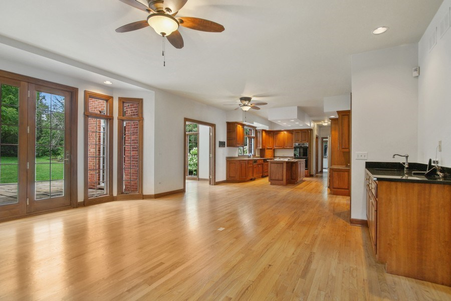 Real Estate Photography - 712 Milton Road, Inverness, IL, 60067 - Family Room and Kitchen