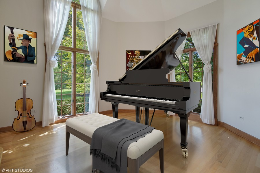 Real Estate Photography - 712 Milton Road, Inverness, IL, 60067 - Music Room