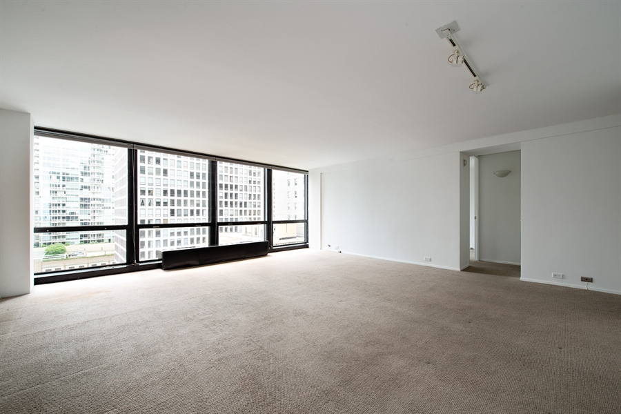 Real Estate Photography - 900 N. LAKE SHORE Drive, Unit 1510, Chicago, IL, 60611 - Living Room