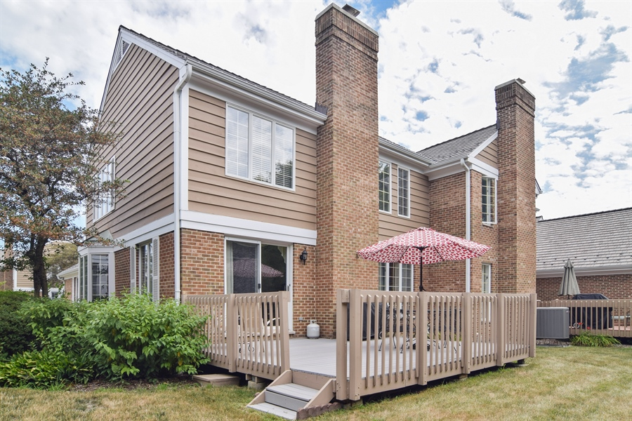 Real Estate Photography - 1449 Shire Circle, Unit 11, Inverness, IL, 60067 - Rear View