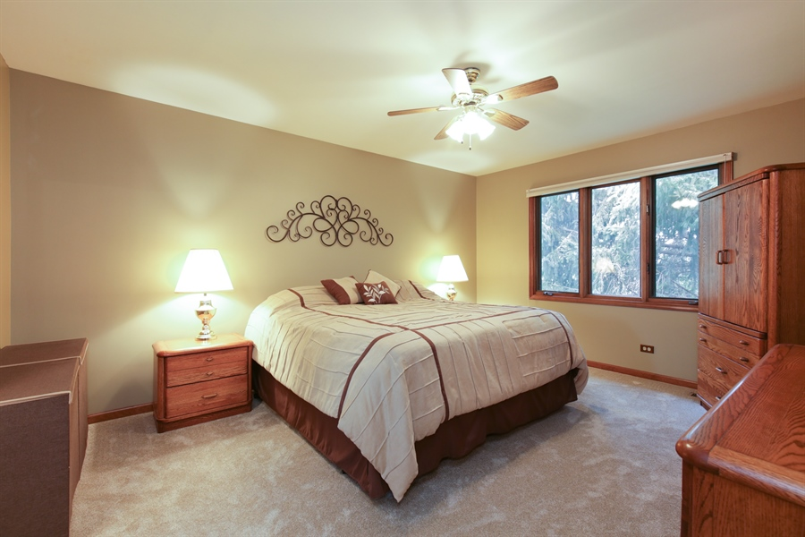 Real Estate Photography - 18N580 Spring Bluff Drive, Dundee, IL, 60118 - Master Bedroom