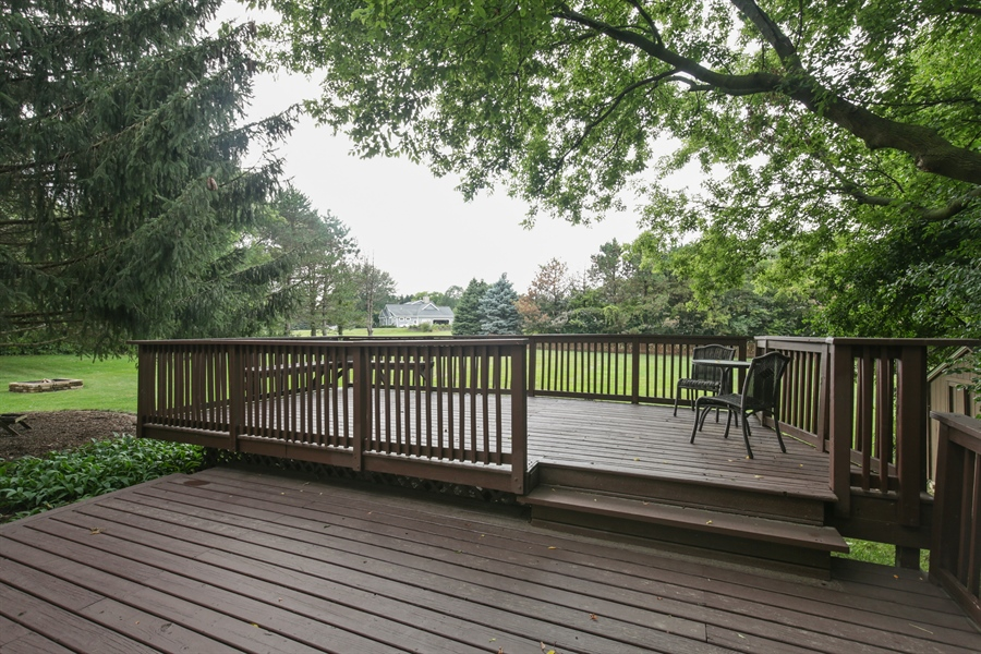 Real Estate Photography - 18N580 Spring Bluff Drive, Dundee, IL, 60118 - Deck