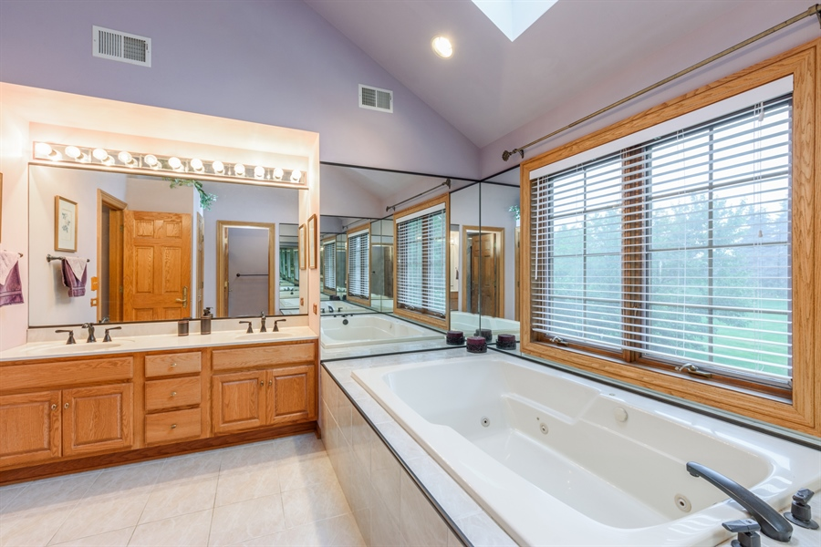 Real Estate Photography - 105 Stone Marsh Lane, Barrington, IL, 60010 - Master Bathroom