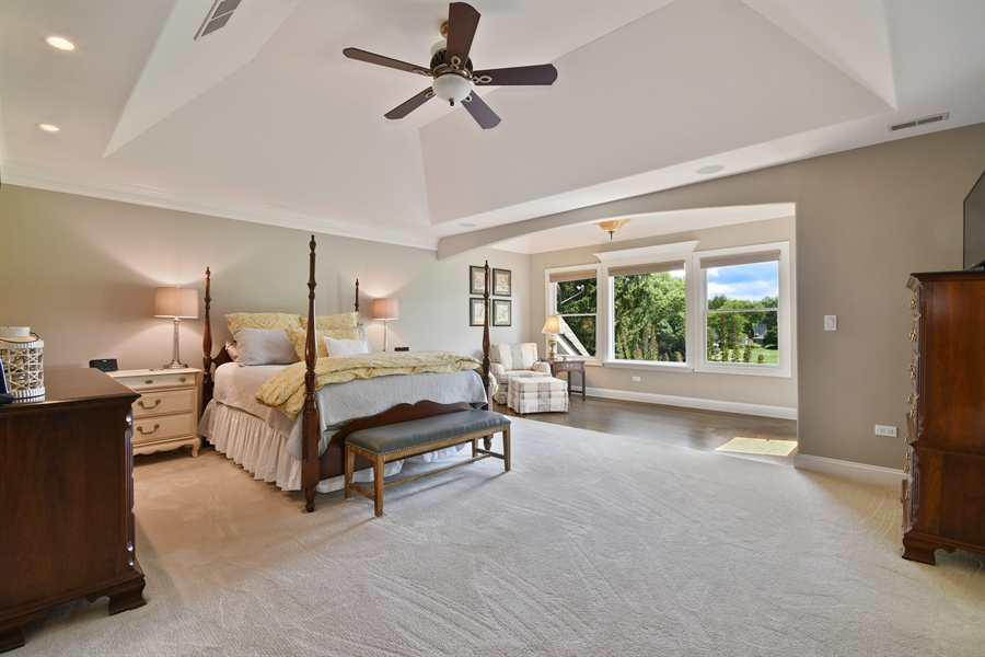 "Real Estate Photography - 1404 ROYAL ST. GEORGE Drive, Naperville, IL, 60563 - Spectacular master bedroom ""retreat"""