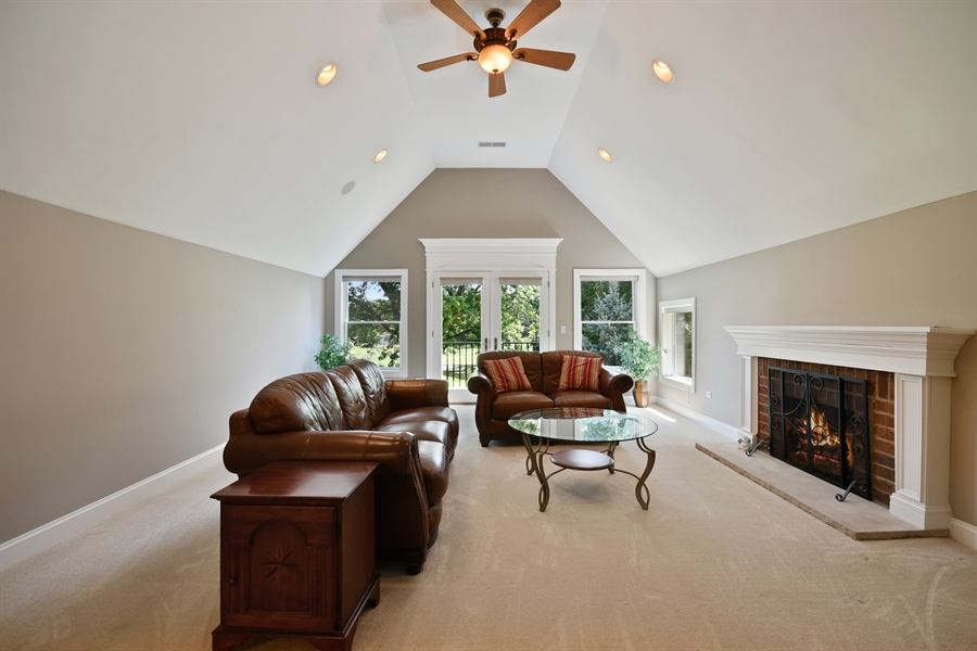 Real Estate Photography - 1404 ROYAL ST. GEORGE Drive, Naperville, IL, 60563 - 2nd floor gathering space-7.1 sound, FPL, fun!