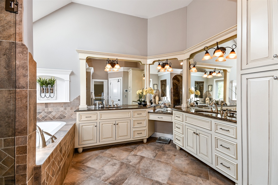 "Real Estate Photography - 1404 ROYAL ST. GEORGE Drive, Naperville, IL, 60563 - Heated floors in the spa ""like"" master bath"