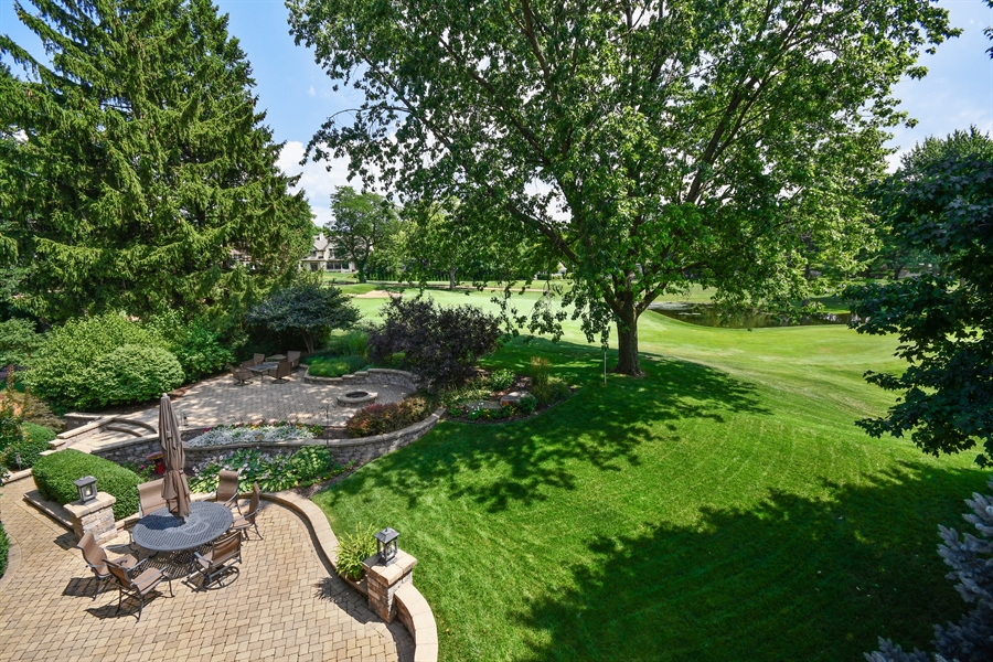 Real Estate Photography - 1404 ROYAL ST. GEORGE Drive, Naperville, IL, 60563 - 15th fairway views
