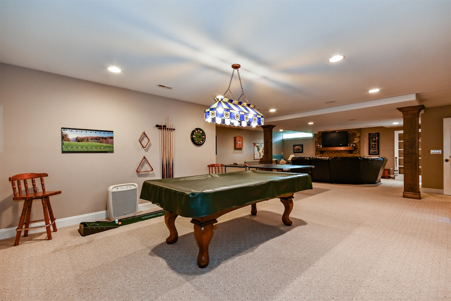 Real Estate Photography - 1404 ROYAL ST. GEORGE Drive, Naperville, IL, 60563 - Finished lower level versatility