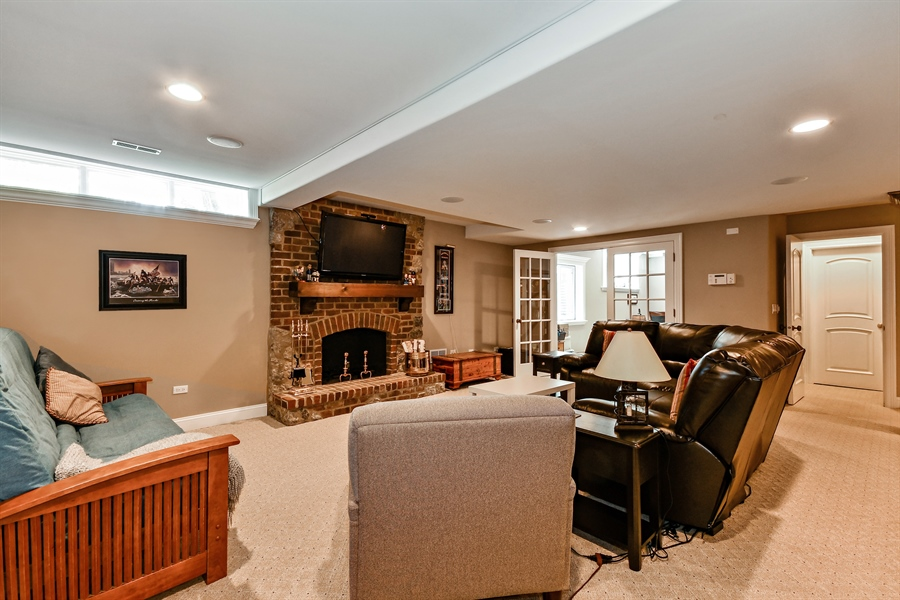 Real Estate Photography - 1404 ROYAL ST. GEORGE Drive, Naperville, IL, 60563 - Perfect media/sports/movie area w/premium sound!