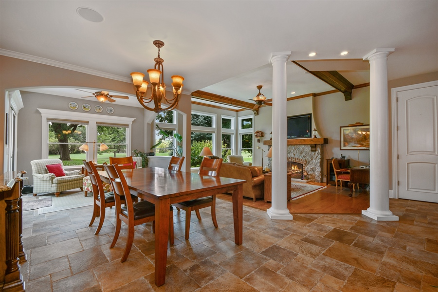 Real Estate Photography - 1404 ROYAL ST. GEORGE Drive, Naperville, IL, 60563 - Breakfast room opens into the sunroom & FR