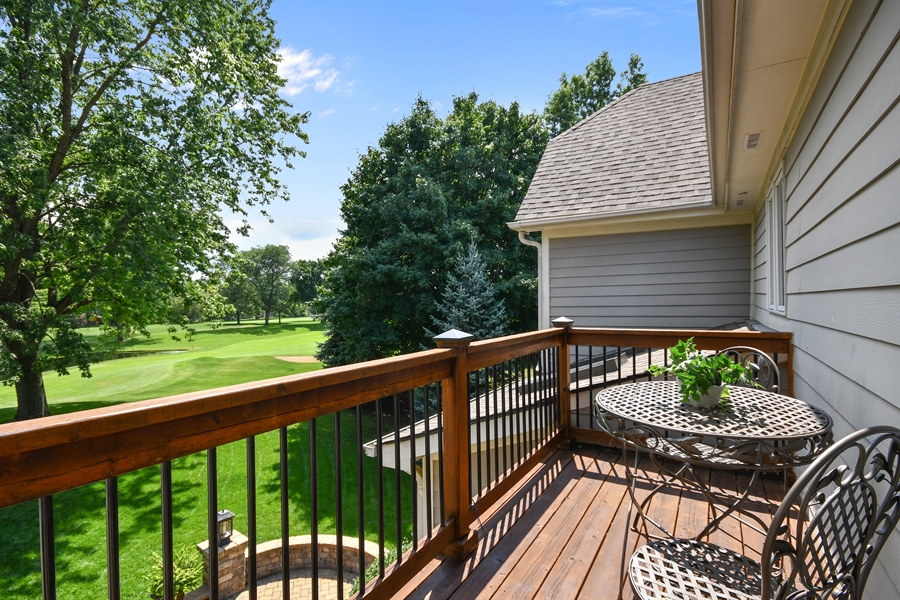 Real Estate Photography - 1404 ROYAL ST. GEORGE Drive, Naperville, IL, 60563 - Private balcony off of the MBR