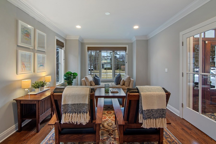 Real Estate Photography - 554 Orchard Lane, Winnetka, IL, 60093 - Living Room