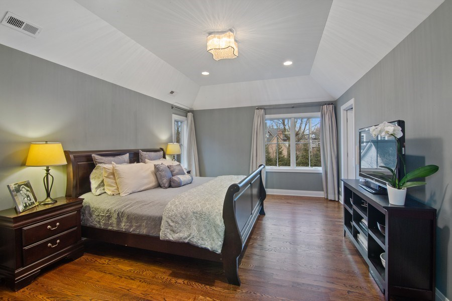 Real Estate Photography - 554 Orchard Lane, Winnetka, IL, 60093 - Master Bedroom
