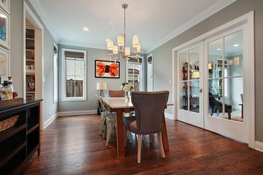 Real Estate Photography - 554 Orchard Lane, Winnetka, IL, 60093 - Dining Room