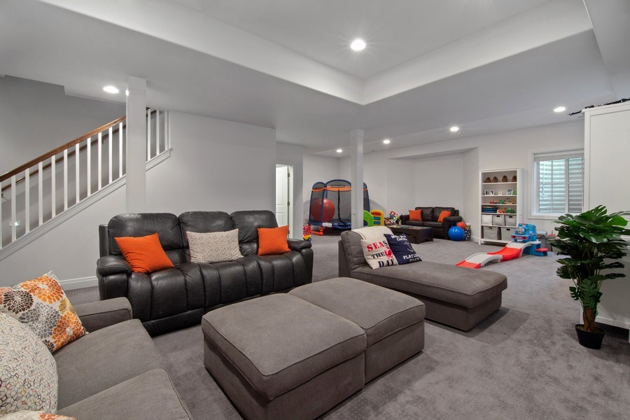 Real Estate Photography - 554 Orchard Lane, Winnetka, IL, 60093 - Lower Level