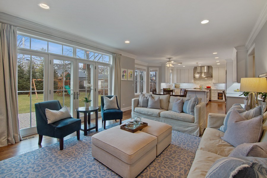 Real Estate Photography - 554 Orchard Lane, Winnetka, IL, 60093 - Family Room