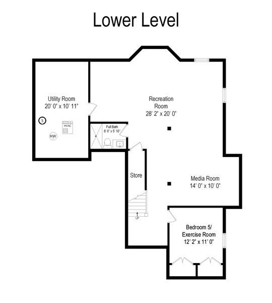Real Estate Photography - 554 Orchard Lane, Winnetka, IL, 60093 - Floor Plan