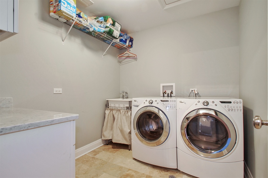 Real Estate Photography - 554 Orchard Lane, Winnetka, IL, 60093 - 2nd floor Laundry Room