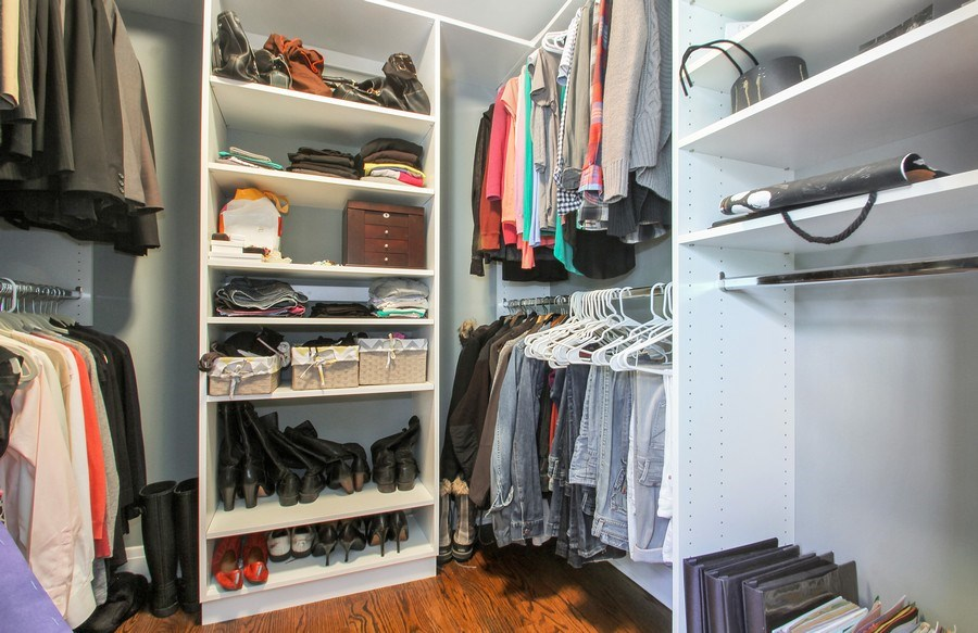 Real Estate Photography - 554 Orchard Lane, Winnetka, IL, 60093 - Master Bedroom Closet #1