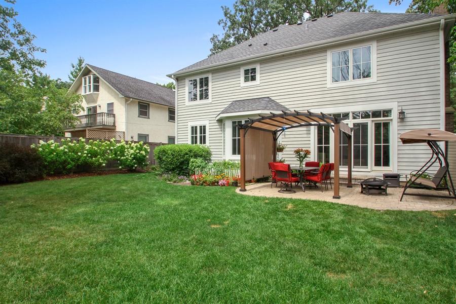 Real Estate Photography - 554 Orchard Lane, Winnetka, IL, 60093 - Rear View