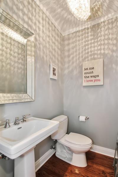 Real Estate Photography - 554 Orchard Lane, Winnetka, IL, 60093 - Half Bath