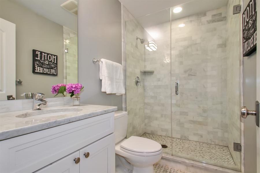 Real Estate Photography - 554 Orchard Lane, Winnetka, IL, 60093 - Basement Bathroom