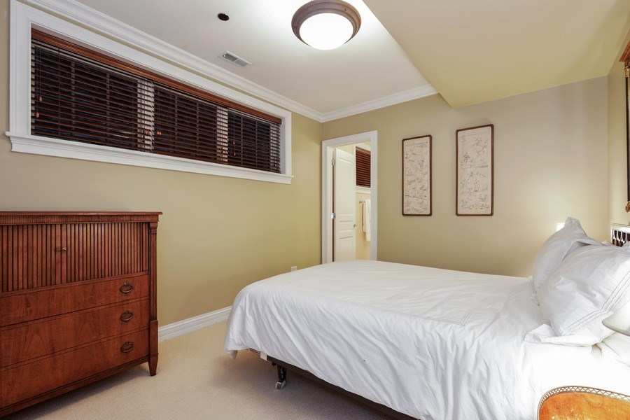 Real Estate Photography - 2030 N. Dayton Street, Chicago, IL, 60614 - Lower Level Ensuite Bedroom