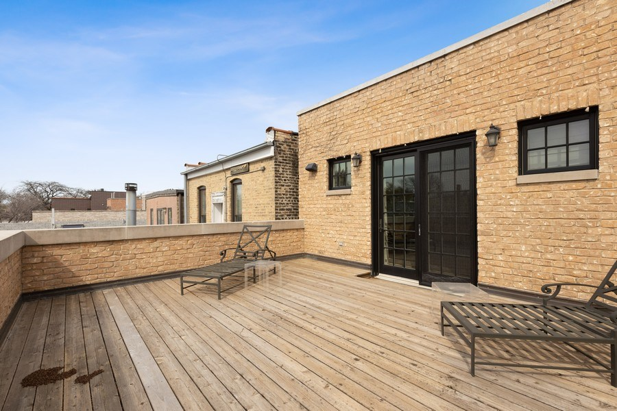 Real Estate Photography - 2030 N. Dayton Street, Chicago, IL, 60614 - Top Floor Deck off of Master