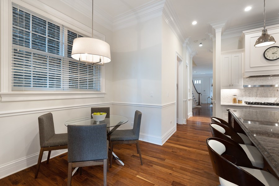 Real Estate Photography - 2030 N. Dayton Street, Chicago, IL, 60614 - Breakfast Area