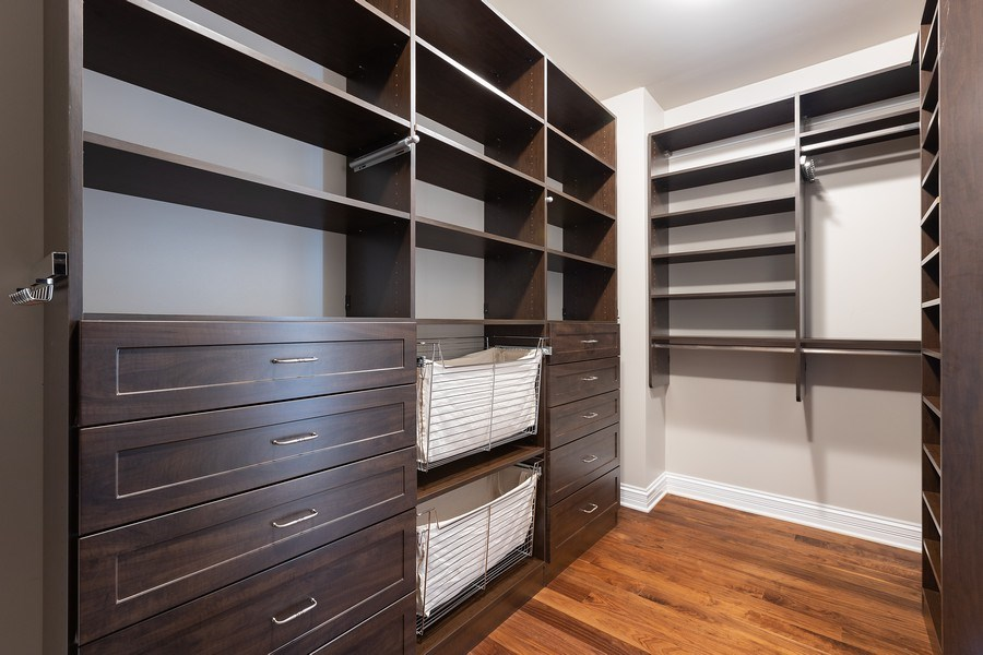 Real Estate Photography - 2030 N. Dayton Street, Chicago, IL, 60614 - Master Bedroom Closet