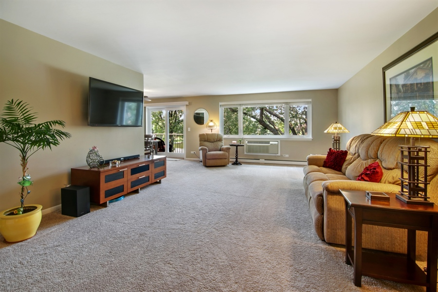 Real Estate Photography - 100 N. Regency Drive, Unit 203, Arlington Heights, IL, 60004 - Living Room