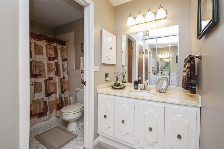 Real Estate Photography - 100 N. Regency Drive, Unit 203, Arlington Heights, IL, 60004 - Master Bathroom
