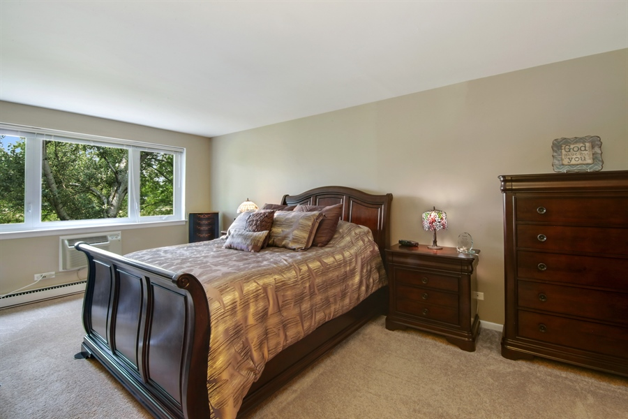 Real Estate Photography - 100 N. Regency Drive, Unit 203, Arlington Heights, IL, 60004 - Master Bedroom