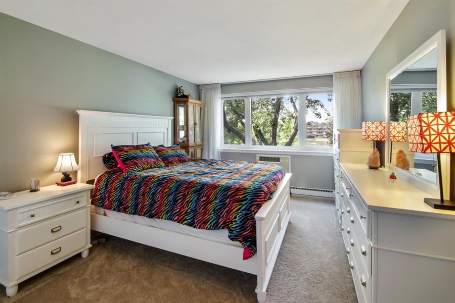 Real Estate Photography - 100 N. Regency Drive, Unit 203, Arlington Heights, IL, 60004 - Bedroom
