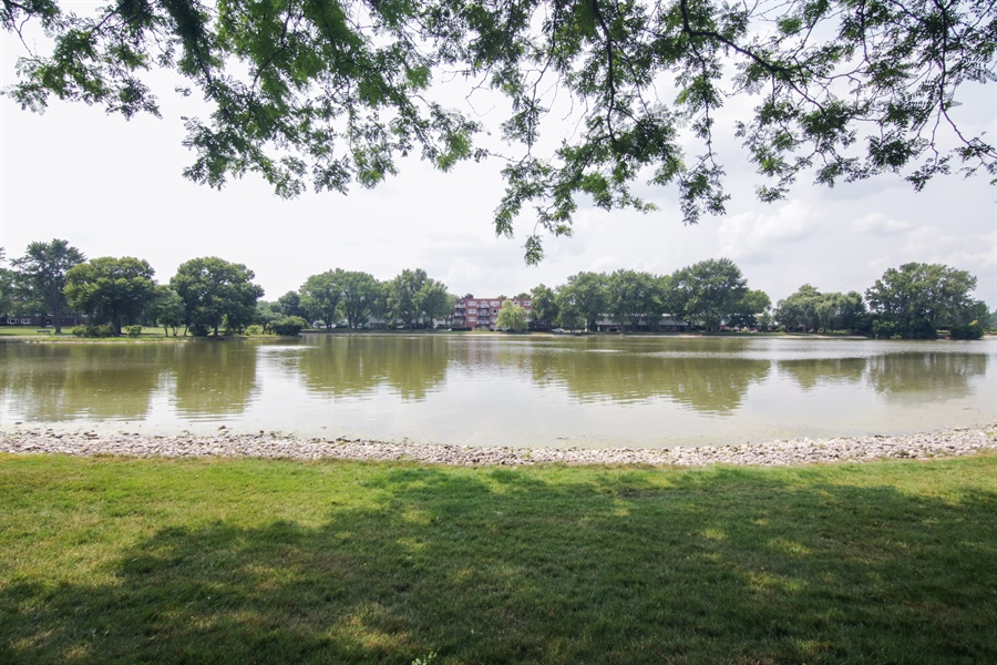 Real Estate Photography - 100 N. Regency Drive, Unit 203, Arlington Heights, IL, 60004 - Neighborhood Lake