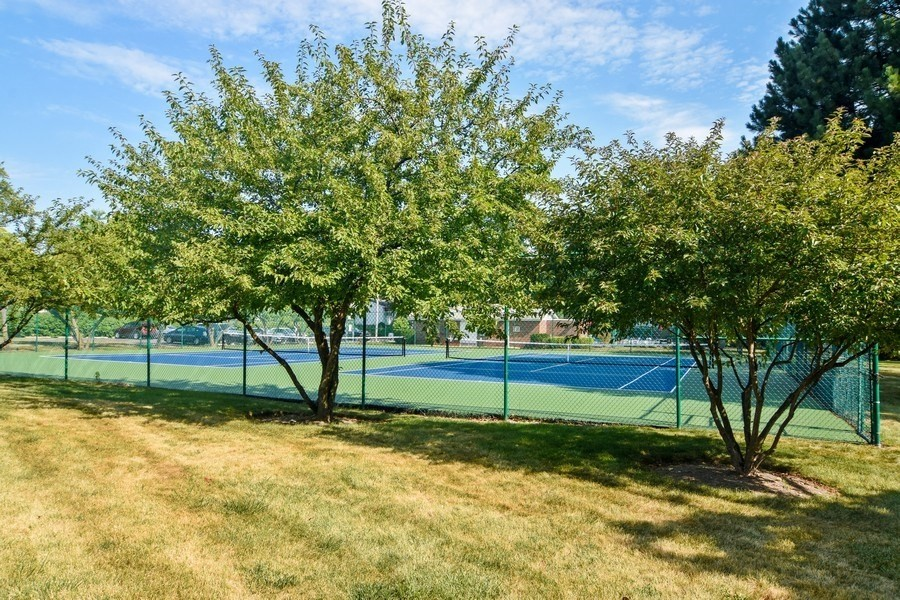 Real Estate Photography - 100 N. Regency Drive, Unit 203, Arlington Heights, IL, 60004 - New tennis courts