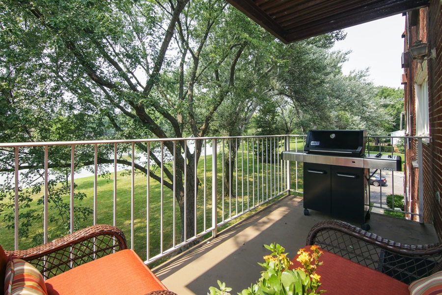 Real Estate Photography - 100 N. Regency Drive, Unit 203, Arlington Heights, IL, 60004 - Balcony