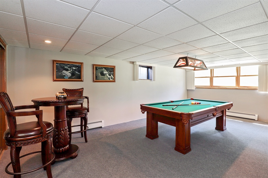 Real Estate Photography - 24450 CHEROKEE Trail, Grayslake, IL, 60030 - Rec Room