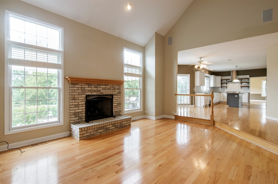 Real Estate Photography - 7105 Cupola Court, Cary, IL, 60013 - Family Room / Kitchen