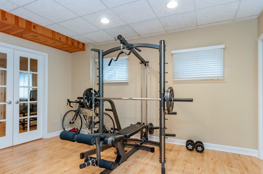 Real Estate Photography - 2215 Skylane Dr, Naperville, IL, 60564 - Gym