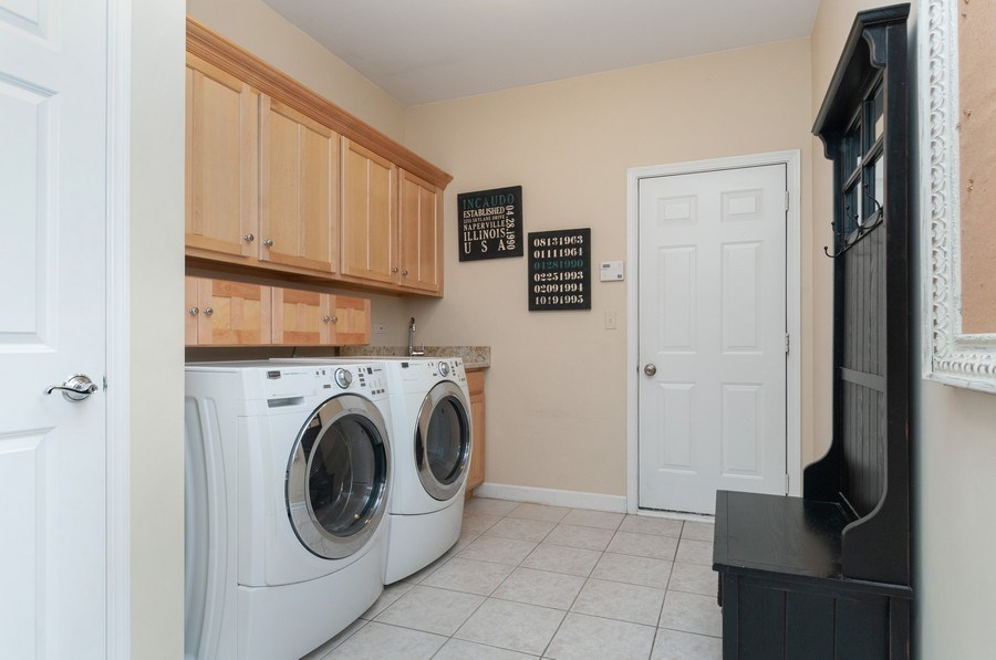 Real Estate Photography - 2215 Skylane Dr, Naperville, IL, 60564 - Laundry Room
