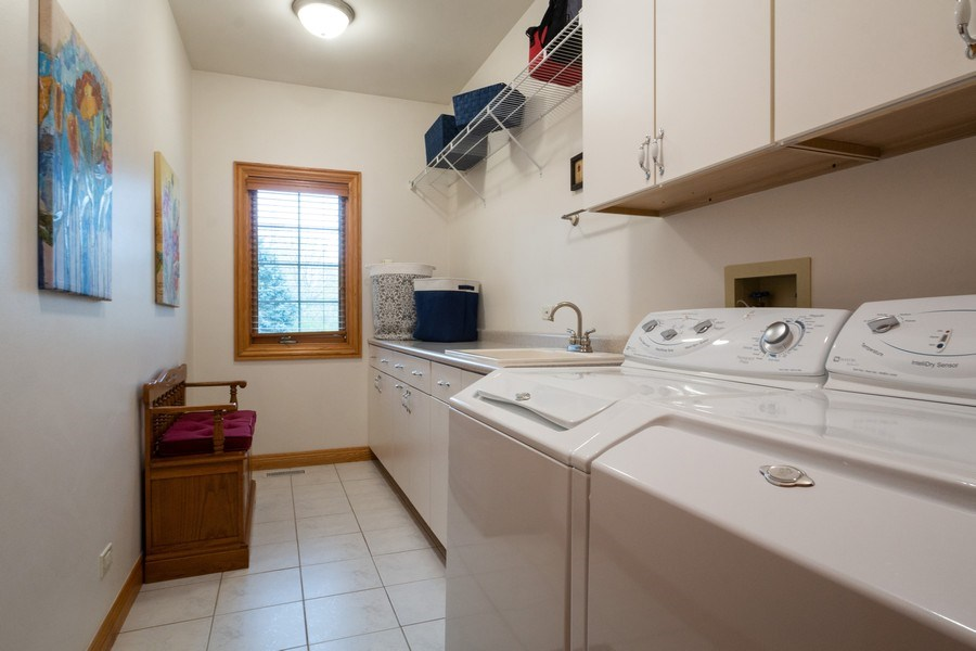 Real Estate Photography - 2410 Timberline Trail, Woodstock, IL, 60098 - Laundry Room