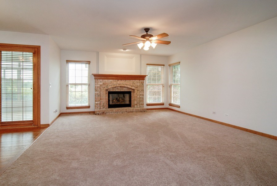 Real Estate Photography - 2534 Brookstone Court, Aurora, IL, 60502 - Family Room