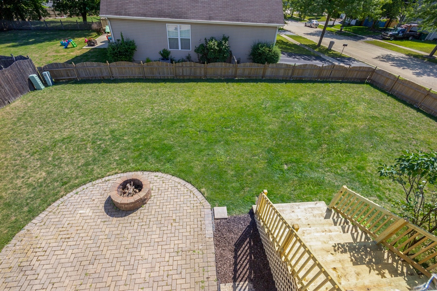 Real Estate Photography - 1806 Chapman Drive, Plainfield, IL, 60586 - Back Yard